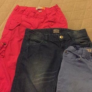 3 pair girls shorts / Capri